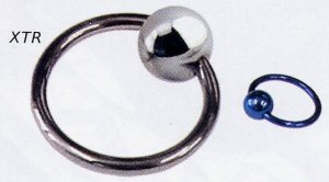 Titanium Ball Closure Ring with Titanium Ball