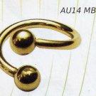 Micro  Body Spiral 14K Gold