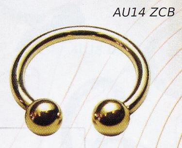Micro Circular Barbell 14K Gold