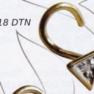 Diamond Triangle Nostril Stud 18k Gold