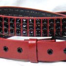 Red Pyramid Stud Belt