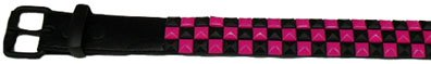 Hot Pink and Black Studded Belt