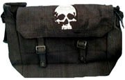 Black Skull Messenger Bag
