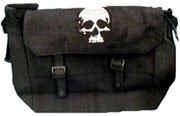 Black Skull Messenger Bag