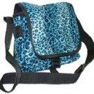 Blue Leopard Skin Bag