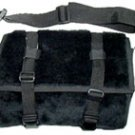 Black Fur Messenger Bag