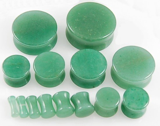 Green Adventurine Stone Plug
