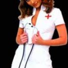 PVC Nurse's Dress and Cap (Black light reflective)