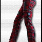 Red Tartan Bondage Pants