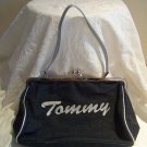 Tommy Hilfiger Authentic Denim Handbag with cute script writing display &quot;Love&quot; &quot;Tommy&quot;
