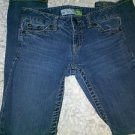 AEROPOSTALE GIRLS JUNIORS BAYLA SKINNY BLUE JEANS SIZE 00 SHORT
