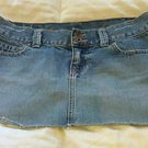 GIRLS ABERCROMBIE JEAN MINI SKIRT DISTRESSED SIZE 14 DENIM CUTE!