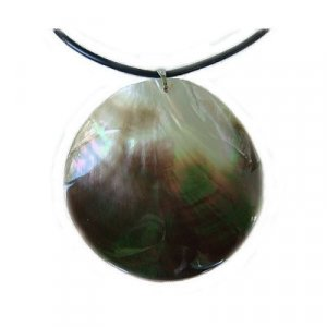 Hawaiian Paua Round Shell Necklace From Hawaii