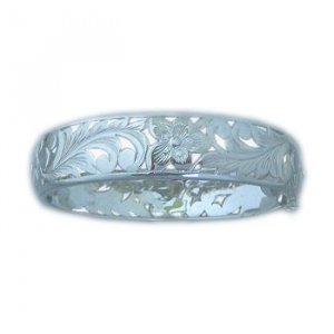 Hawaiian Heirloom Jewelry Silver Cut Out Flower Bracelet