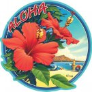 Hawaiian Hibiscus Flower Car Window Decal Bumper Sticker