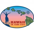 Hawaiian Island Chain Car Window Decal Bumper Sticker