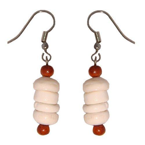 Hawaiian Puka Shell Dangling Earrings