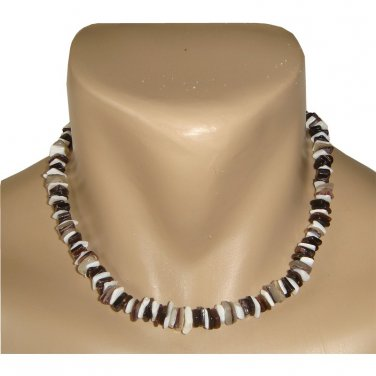 Puka Shell Necklace Mixed Chips Mens Shell Surfer Hawaiian Jewelry Choker