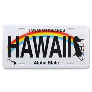 "Hawaii Souvenir License Plate The King Kamehameha ""Hawaii"""