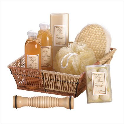Ginget Tea Bath Basket Gift Set.