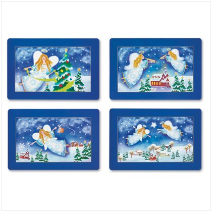Christmas Angel Placemats Set of 4