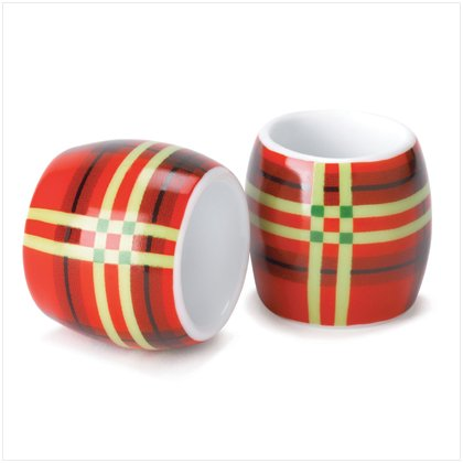 Perfectly Plaid Napkins  Rings by Dylan Designs