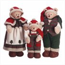 Festive Santa Bear Family. Beautiful! Set of 3