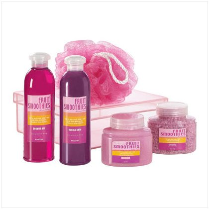 Red Pomegranate Bath Set - 5 piece set