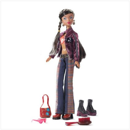 Tan Skinned Fashion Doll with Accessories