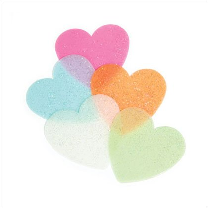 Glow-In-The-Dark Hearts   5-pack