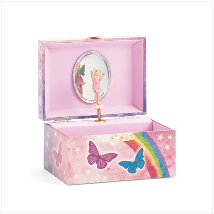 Butterfly Angel Musical Jewelry Box