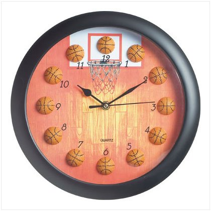 Basketball Design Clock