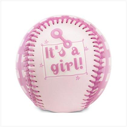 """It's A Girl"" Pink Baseball"