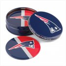 Tin Coaster Set - New England Patriots