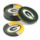 Tin Coaster Set- Green Bay Packers