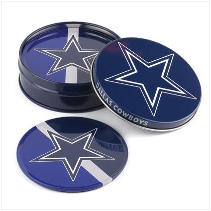 Tin Coaster Set- Dallas Cowboys