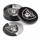 Tin Coaster Set- Oakland Raiders