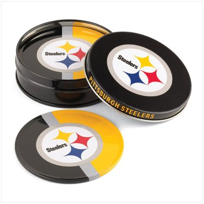 Tin Coaster Set- Pittsburgh Steelers