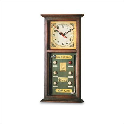 """History Of Golf"" Clock"