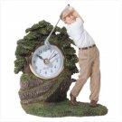 Golf Statue Clock