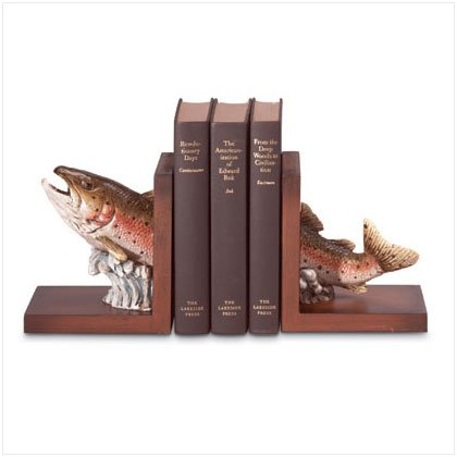 Jumping Trout Bookends