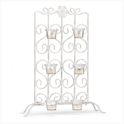 White Iron Candle Stand