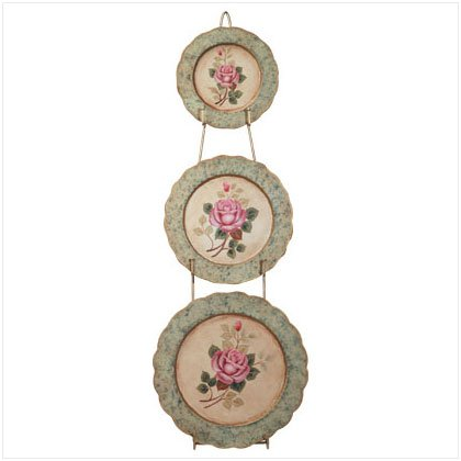 Rose Decorative Plates with Rack