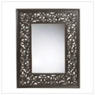 Carved Leaf Framed Mirror