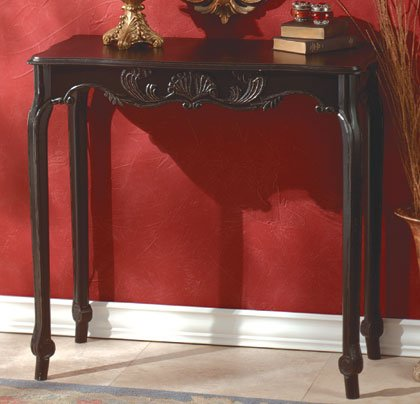 Scallop Detail Hall Table