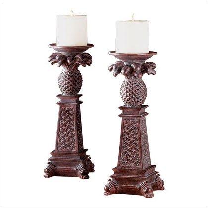 Pineapple Column Candleholders