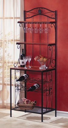 Baker's Style Wine and Glass Rack