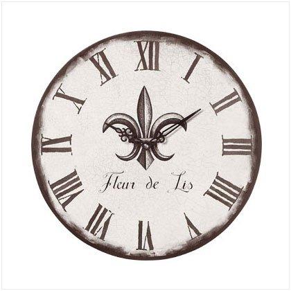 Fleur De Lis Wall Clock