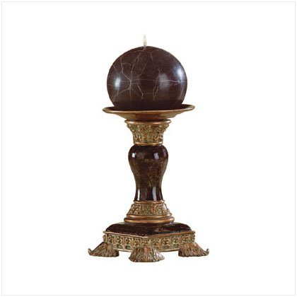 Marbleized Candleholder and Candle
