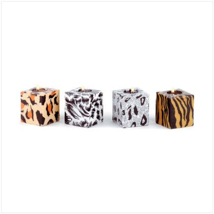Safari Cube Candles - Set of 4